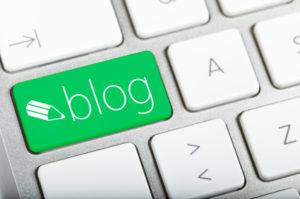 blog key on a keyboard