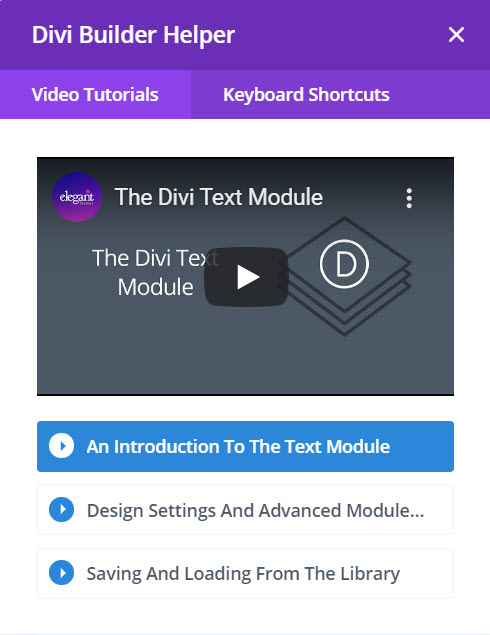 Divi video tutorial